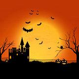 Haunted Halloween house background