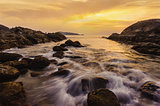 Seascape colorful with color of sunset in twilight