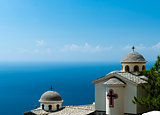 greek church over the sea