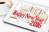 Happy New Year 2016 word cloud