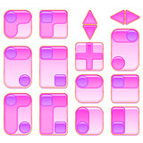 Pink and Lilac Buttons Set