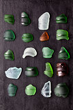 sea glass bottlenecks