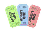 Colourful Admission Tickets
