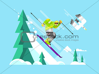 Skier character