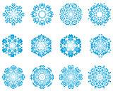 Twelve Circle Snowflakes