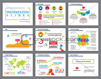 Business colourful infographics presentation slides template