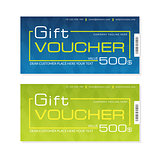 Futuristic gift voucher templates in two colors