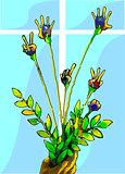 Bouquet of finger flowers