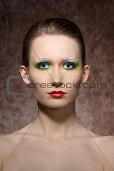 artistic beauty shoot of woman