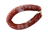 Chorizo sausage isolated as Cut