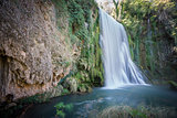 Long exposure of waterfall at Monasterio de Piedra, Spain