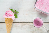 Close up berry ice cream