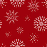 Christmas seamless background with snowflakes. Illustration can be copied without any seams. Vector eps10.