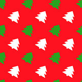Seamless background with vintage style Christmas trees. Illustration can be copied without any seams. Vector eps10.