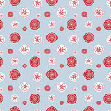 Christmas seamless background with vintage style snowflakes. Illustration can be copied without any seams. Vector eps10.