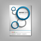 Brochures book or flyer with blue gray rounds template