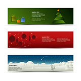 Christmas horizontal banner template