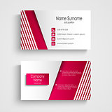 Modern light pink white business card template