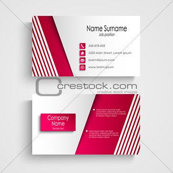 Modern light pink white business card template
