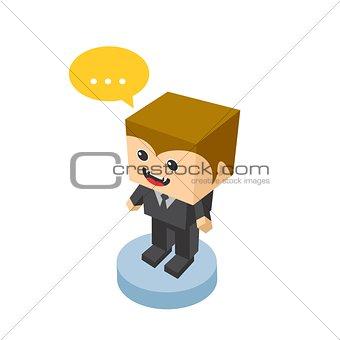 block isometric cartoon character