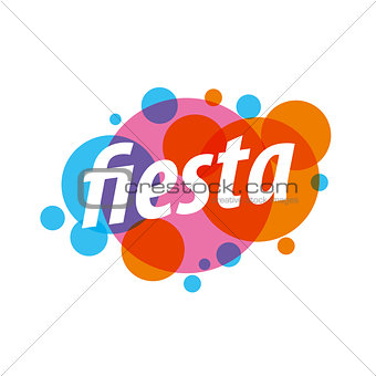 Abstract colorful vector logo for a holiday