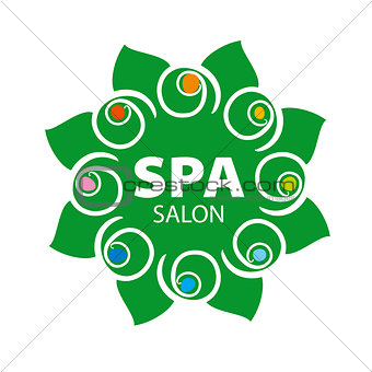 abstract floral vector logo for Spa salon