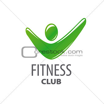 abstract green vector logo for fitness center