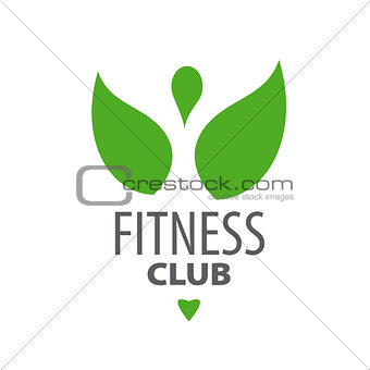 abstract green vector logo for fitness club