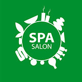 Abstract round vector logo for Spa salon