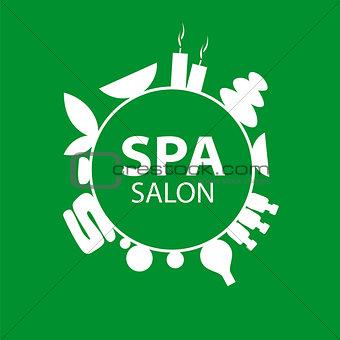 Abstract round vector logo for Spa salon