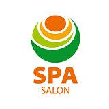 Abstract vector logo candle for spa salon