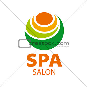 Abstract vector logo candle for spa salon