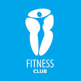 Abstract vector logo figure of the girl for a fitness club