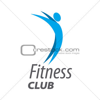 Abstract vector logo for fitness club