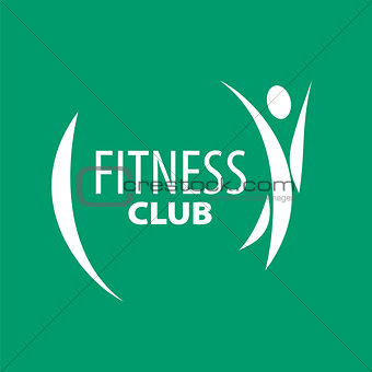 Abstract vector logo for fitness clubs on a green background