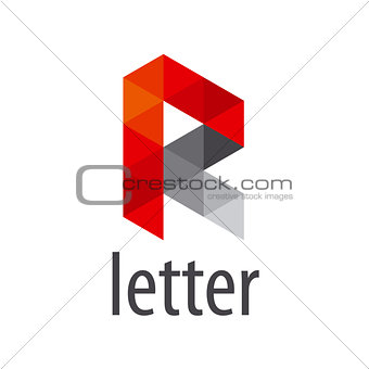 Abstract vector logo letter R modules