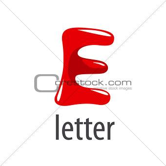 cartoon vector logo red letter E