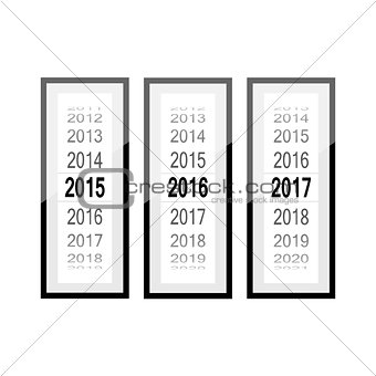 time, Countdown, counter, year, frame