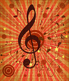 Vintage red music background