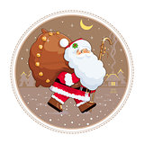 Santa Claus with gift sack