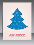 Christmas greeting card with tree shape
