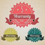 Various flat warranty icons
