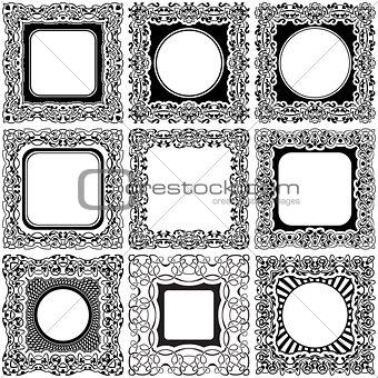 Black frame set