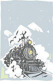 Woodcut Locomotive Color