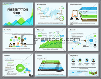 Business infographics presentation slides template