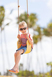 kid at swing