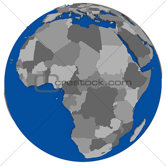 Africa on Earth political map