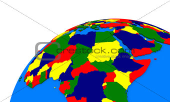 central Africa on Earth political map