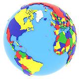 Western hemisphere on Earth
