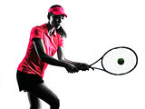 woman tennis player sadness silhouette